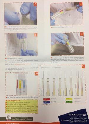 Calf scour test kit instructions